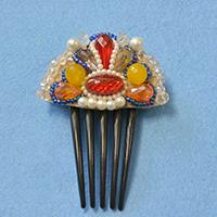 Instructions on How to Make Colorful Beaded Hair Combs for Women