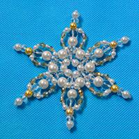 Pandahall Tutorial on How to Make a Pearl Beaded Snowflake Ornament