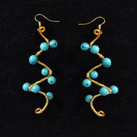 How to Make a Wire Wrapping and Turquoise Bead Earrings
