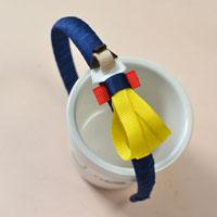 How to Make a Blue Grosgrain Ribbon Headband with Snow White