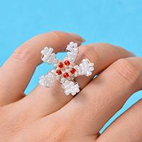 Pandahall's Free Tutorial on How to Make a Seed Bead Flower Ring for Girls