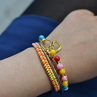 How to Make an Easy Braided Bangle Bracelet with Colorful Acrylic Beads