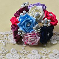 Pandahall Tutorial on How to Make Grosgrain Ribbon Rosettes with Pearl Beads