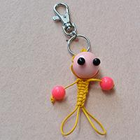 Pandahall Tutorial - How to Make Your Own Yellow Cord Braided Keychain at Home