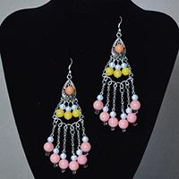Easy Pandahall Tutorial on How to Make a Pair of Long Bead Drop Tassel Earrings