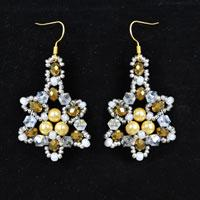 Detailed Pandahall Tutorial on How to Make a Pair of Beaded Snowflake Earrings