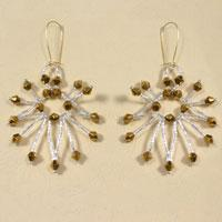 How to Make Large Hoop Earrings with Silver and Gold Beaded Tassels