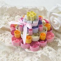 Quilling idea for Kids – How to Make a Colorful 3D Quilling Paper Cake