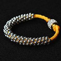 Pandahall Tutorial - How to Make a Silver Charm Kumihimo Bead Bracelet at Home