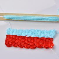 Explanation on How to Make Basic Knitting Stitches with Square Knitting Loom for Children