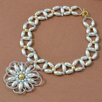 How to Make a Pearl Choker Necklace with Pearl Flower Pendant