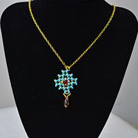 How to Make 2-Hole Seed Beads Chain Pendant Necklace for Women