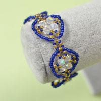 Pandahall Tutorial - How to Make a Handmade Blue Seed Beaded Bracelet