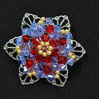 How to Make a Charming Red and Blue Glass Beaded Flower Brooch