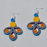 How to make Easy Orange Quilling Earrings for Girls