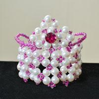 Pandahall Tutorial on How to Make Four-String Crown Pearl Beads Bracelets for Girls