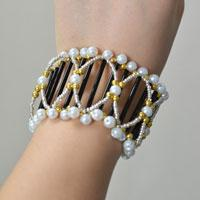 Pandahall Tutorial - How to Make a Two-layer Wide Beaded Bangle Bracelet at Home