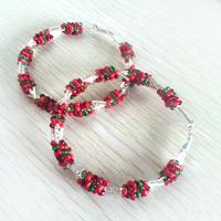 Christmas garland earrings add more Christmas atmosphere for you