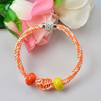 Pandahall Tutorial on How to Make Easy Orange Kumihimo Bracelet with Nylon Threads