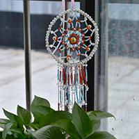 Pandahall's Free Instructions on How to Make a Beaded Dream Catcher Wall Hanging Decoration