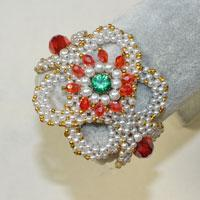 How to Make Delicate Beading Flower Bracelets with Pearl and Glass Beads