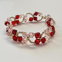 How to Make a Lovely Red and Pink Crystal Dancing Clover Bracelet for Girls