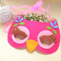 Children's Day Gifts-How to Make a Lovely Owl Felt Mask for Kids