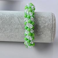 Pandahall Kumihimo Bracelet Tutorial - How to Make a Handmade Green Bead Kumihimo Bracelet