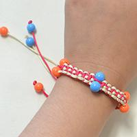 How to Make Nylon Threads Friendship Bracelet with Acrylic Beads
