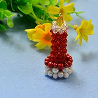 Free Instructions on Making Glass and Pearl Beaded 3D Candle for Home Decoration