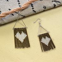 Mother's Day Jewelry Idea- How to Make a Pair of Seed Bead Tassel Earrings