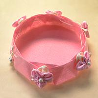 Pandahall Video Tutorial on How to Make a Pink Felt Flower Storage Box
