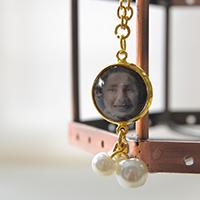 How to Make Personalized Glass Cabochon Pendant Necklace with Pearl Drops