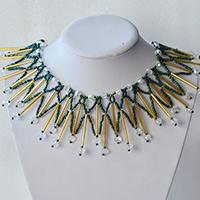 How to Make Girl's Bib Necklace with Seed Beads and Glass Beads