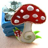 Pandahall Tutorial on How to Make Easy Felt Mushroom for Kids