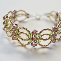 Pandahall Tutorial on How to Make a Seed Bead and Glass Bead Flower Bracelet