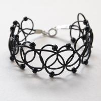 Pandahall DIY - Making a Cool Black Leather Cord Tattoo Bracelet with Seed Beads