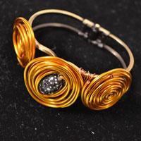 Easy Pandahall Tutorial - How to Make a Golden Wire Wrapped Bangle Bracelet