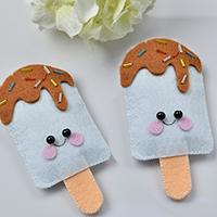 Family DIY Project – How to Make Lovely Felt Ice Cream Craft at Home