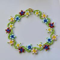 How to Make Colorful Flower Pearl and Seed Beads Necklace for Girls