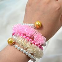 Pandahall Tutorial on How to Make Simple Organza Ribbon Bracelet with Pearl Beads