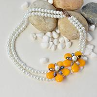 Pandahall Original DIY Project - How to Make a White Two-Strand Pearl Bead Necklace