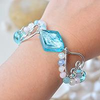 How to Make a Beach Charm Bracelet with Beaded Wrap Heart Design