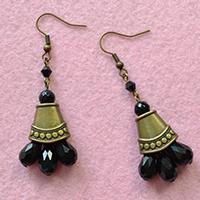 Pandahall Free Tutorial on Making a Pair of Vintage Style Bronze Drop Earrings for Beginners