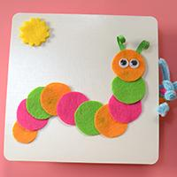Instructions on How to Make Felt Carpenterworm Greeting Card for Kids