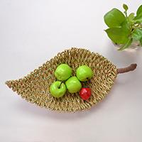 Home Décor Idea - How to Make a Gold PU Leather Cord Wrapped Leaf Fruit Bowl