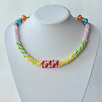 Kumihimo Jewelry DIY - How to Make a Candy Color Kumihimo Seed Bead Necklace