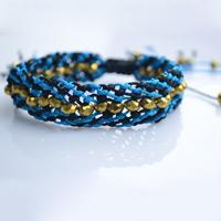 How do You Make Adjustable Macramé Beaded Friendship Bracelet Step by Step