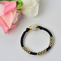 Video Tutorial on Making a Black Nylon Thread Kumihimo Braided Bracelet with Beads