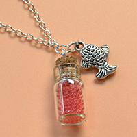 Easy DIY Project - How to Make a Jar Glass Bottle and Fish Pendant Necklace